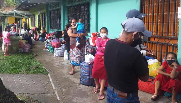 Loreto: los retornates se encontraban albergados en instituciones educativas de Iquitos.