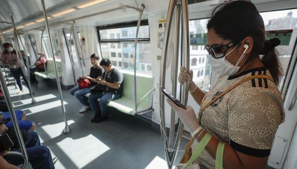 La entidad pidió a los pasajeros a hacer uso obligatorio de mascarilla, respetar la distancia social de un metro en los trenes y en los ingresos a las estaciones. (GEC)