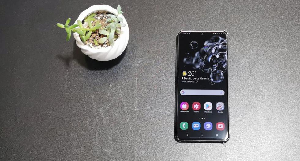 El Galaxy S20 Ultra es el smartphone más moderno que Samsung tiene disponible en el mercado local. (Foto: Bruno Ortiz Bisso)