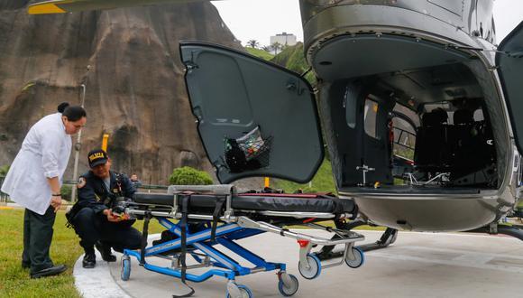 Ambulancias aéreas cuentan con personal médico para una rápida atención. (Foto: Difusión)