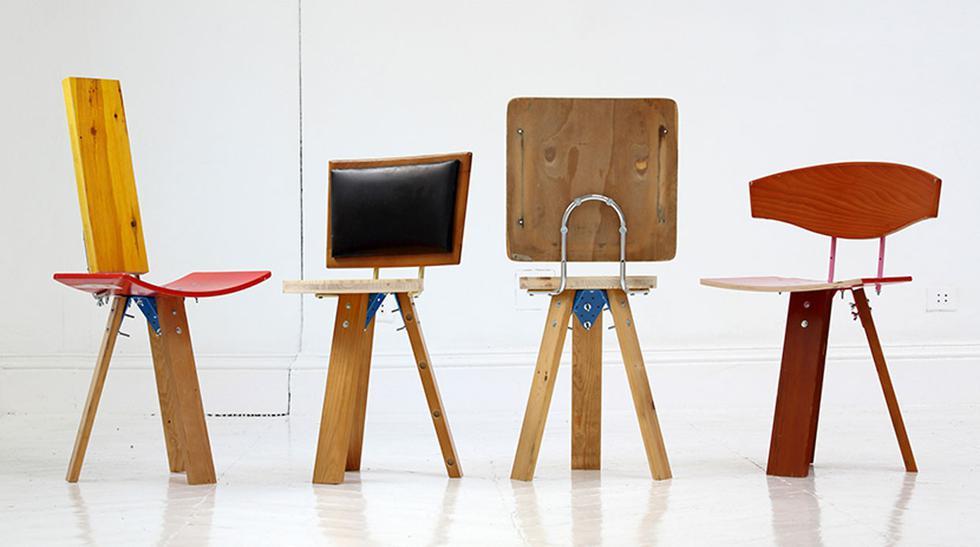 Nueva vida: crean sillas con materiales reutilizados - 1