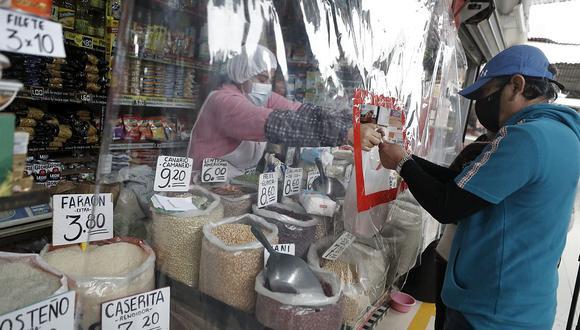 Los precios de algunos productos de la canasta básica siguen en aumento en los mercados de la capital. (Foto: César Campos | GEC)