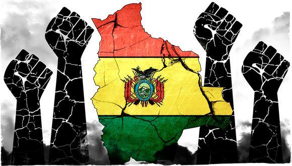 """""""Con o sin la 'sugerencia' de las Fuerzas Armadas bolivianas, su destino parecía sellado"""". (Ilustración: Rolando Pinillos Romero)."""