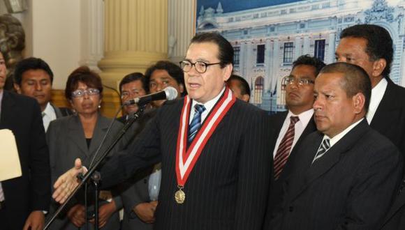 Enrique Mendoza pide al Congreso dar ley del servidor judicial