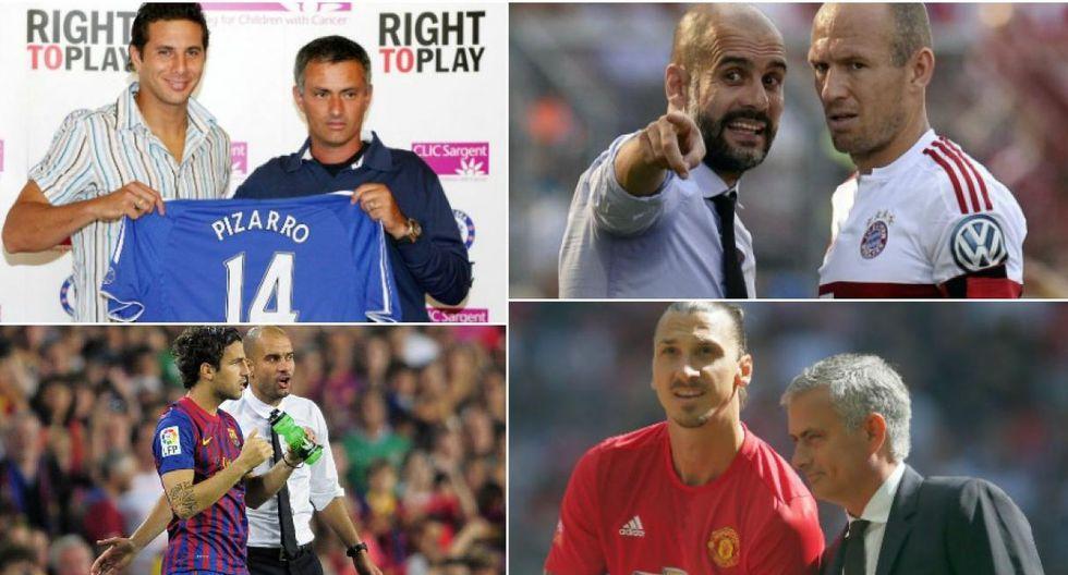 Alexis Sánchez y los doce jugadores dirigidos por Guardiola y Mourinho. (Foto)