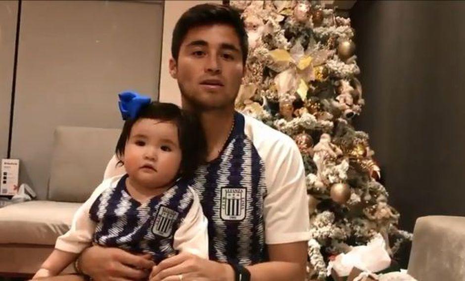 Rodrigo Cuba envió saludo por Navidad a la familia blanquiazul. | Foto: captura