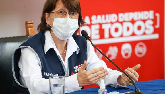 La ministra de Salud, Pilar Mazzetti, detalló la situación del COVID-19 en el Perú.  (Foto: ANDINA/ Minsa)