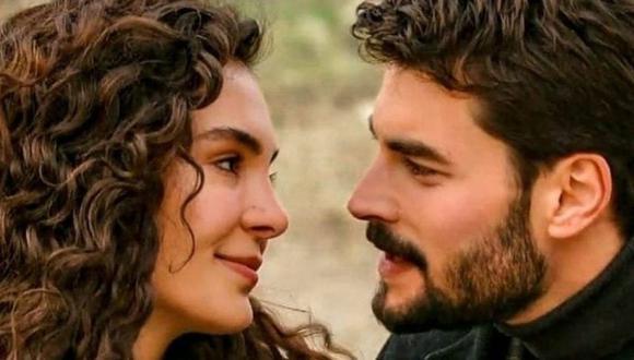 """""""Hercai"""" es protagonizada por Ebru Şahin y Akın Akınözü, quienes dan vida a Reyyan y Miran Aslanbey (Foto: Mia Yapım)"""