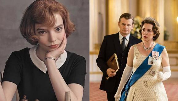 """""""The Queen's Gambit"""" y """"The Crown"""" competirán en la ceremonia de los Premios Emmys 2021. (Foto: Netflix)"""