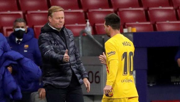 Ronald Koeman explicó la ausencia de Lionel Messi con Barcelona en Champions League. (Foto: EFE)