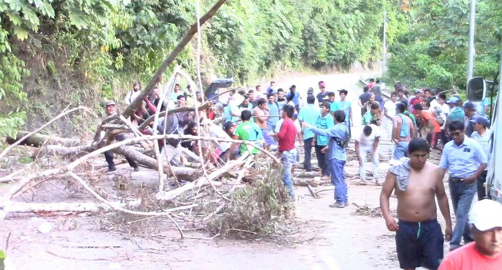 Madre de Dios: puente Inambari sigue bloqueado por cuarto día consecutivo. (Foto: Manuel Calloquispe)