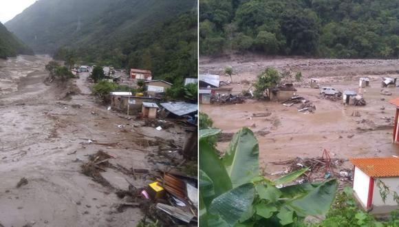 Cusco: el aluvión dejó cinco muertos, 10 desaparecidos y 290 afectados en distintos sectores del distrito de Santa Teresa. (Foto: Coer Cusco)