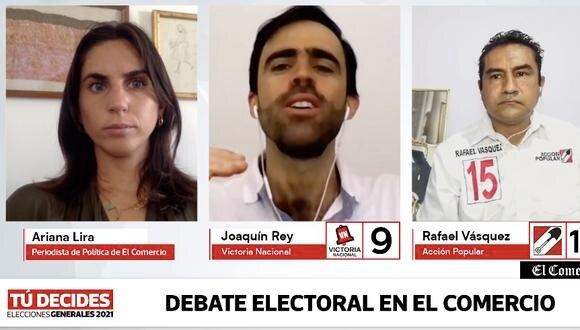 Los candidatos debatieron en vivo en el Facebook de El Comercio.