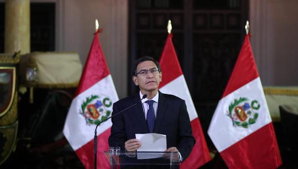 El presidente Martín Vizcarra es investigado preliminarmente por el equipo especial Lava Jato por los presuntos delitos de cohecho y colusión en agravio del Estado.  (Foto: Archivo El Comercio)