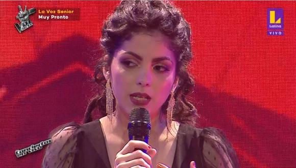 Oriana Montero cantó en La Voz Perú, pero tuvo un problema con al orquesta. (Foto: Captura Latina).