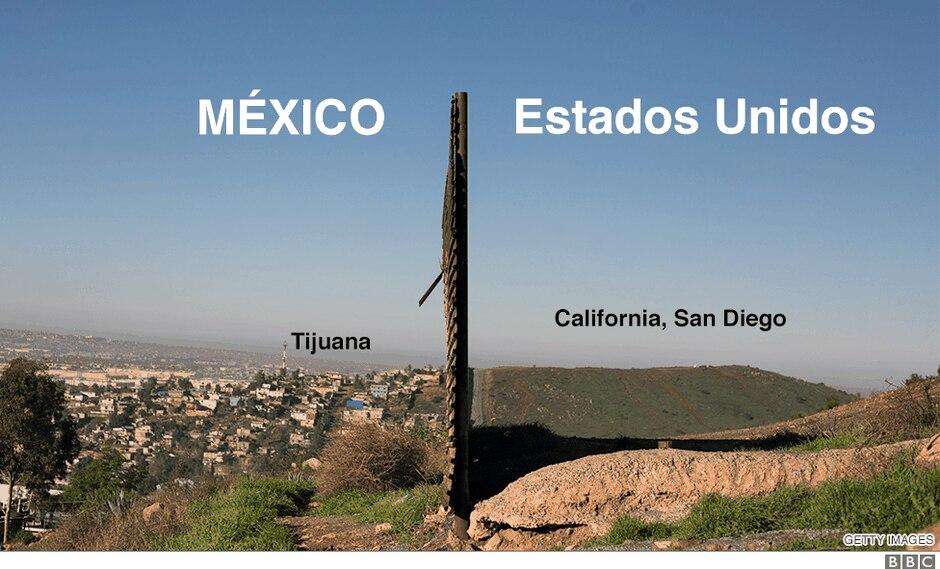 Incluso el propio presidente de Estados Unidos ha cambiado su visión del muro. Foto: Getty Images, vía BBC Mundo