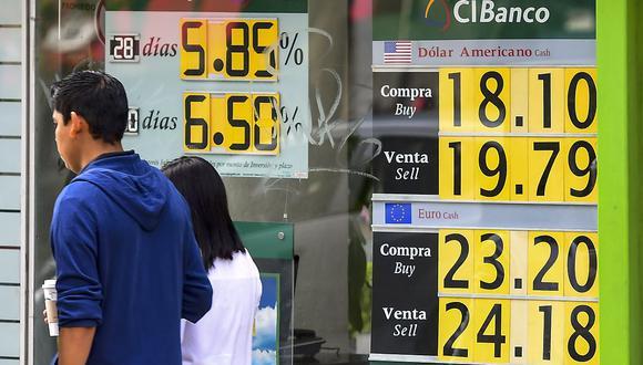 El peso mexicano abrió a la baja el martes, (Foto: AFP)