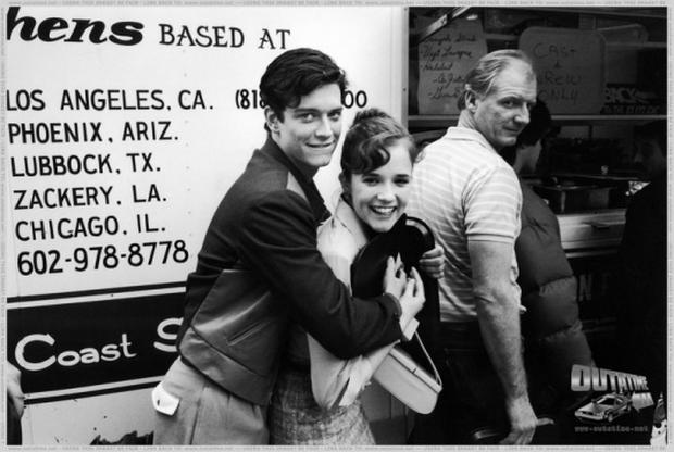"""Erick Stoltz and Lea Thompson off the set of """"Return to the future"""".  Photo:BTTF.com"""