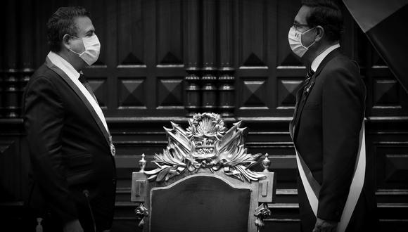 """""""La actitud del presidente del Congreso ha sido temeraria al tratar de involucrar a las Fuerzas Armadas"""", expresó el primer ministro, Walter Martos. (Foto: Karel Navarro / Presidencia)"""