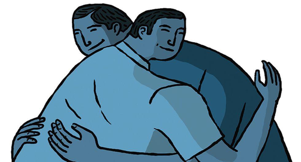 """""""Tengo la suerte de tener un círculo de amigos con los que, a pesar de la distancia, siempre estamos juntos para querernos y apoyarnos"""". (Ilustración: Víctor Aguilar Rúa)."""
