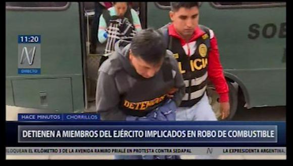 Miembros del Ejército del Perú son sindicados como presuntos integrantes de la organización criminal 'Los tíos del Diesel'.(Captura: Canal N)