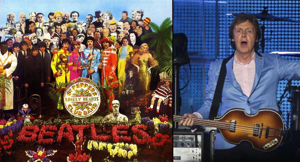 """Arreglo floral en forma de bajo en la portada de """"Sgt. Pepper's Lonely Hearts Club Band"""" haría referencia a 'muerte' de McCartney. (Foto: El Comercio)"""
