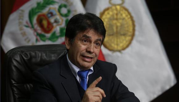 El fiscal supremo Tomás Gálvez viene siendo investigado por el fiscal supremo Pablo Sánchez por sus presuntos vínculos con la organización criminal Los cuellos blancos del puerto. (Foto: GEC)