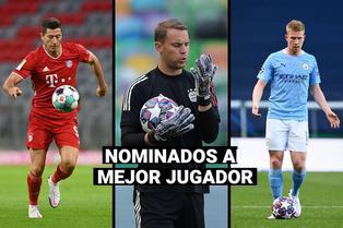 UEFA: Kevin De Bruyne, Robert Lewandowski y Manuel Neuer son nominados a mejor jugador del año