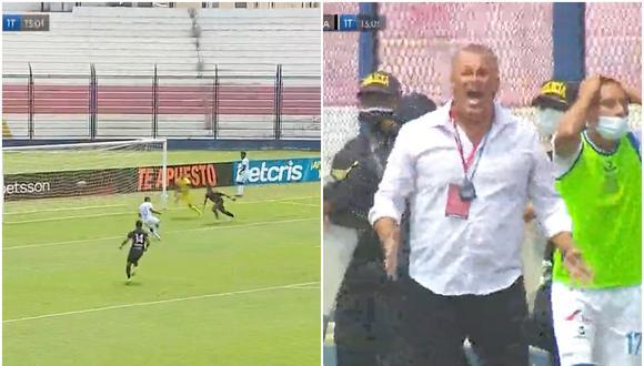 El blooper del año: Kevin Lugo desperdició inmejorable ocasión de gol que provocó hilarante reacción de Butrón | VIDEO