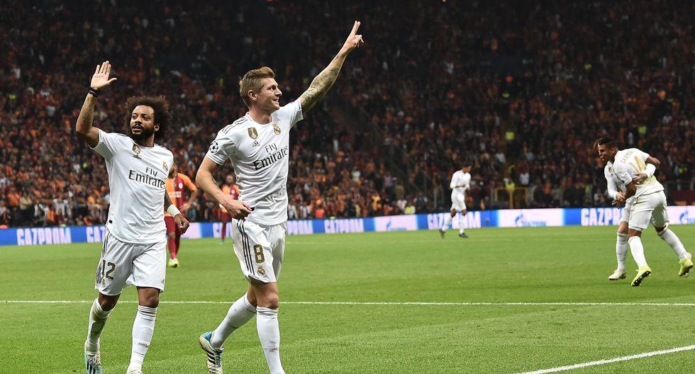 Real Madrid: Toni Kroos y Marcelo celebrando. (Foto: AFP)