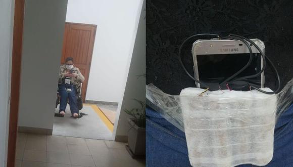 Raquel Milagritos León Goicochea fue detenida cuando pretendía huir tras asaltar la Clínica Anglo Americana. Agentes de a Unidad de Desactivación de Explosivos de la PNP tuvieron que acudir al lugar. (Foto: Policía Nacional del Perú).