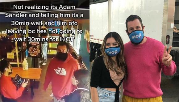 Una mesera saltó a la fama en más de una red social al contar su anécdota de cómo perdió la chance de conocer a Adam Sandler y su posterior encuentro cara a cara. | Crédito: @dayanna.rodas / TikTok / @day.dayanna / Instagram