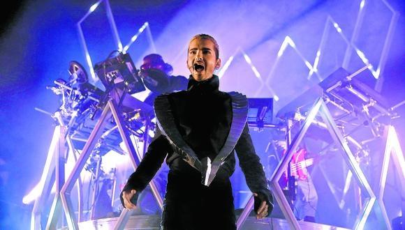 """Bill Kaulitz durante su presentación en Colonia, Alemania, como parte de la gira """"Dream Machine"""". (Foto: Getty Images)"""
