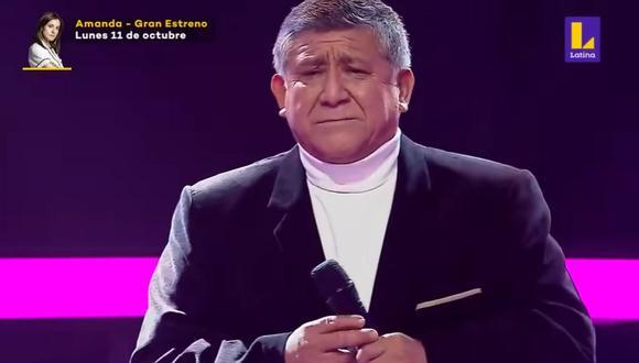 """Mito Plaza cambió la letra de """"Corazón espinado"""" y se la dedicó a su esposa fallecida en """"La Voz Senior"""". (Foto: Captura)"""