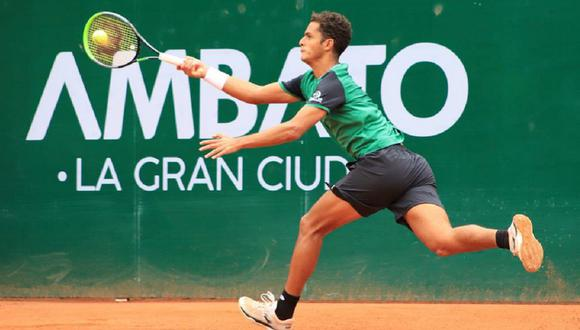 Juan Pablo Varillas avanzó a semifinales del ATP Challenger Tour de Ambato. (Foto: KC Tenis)