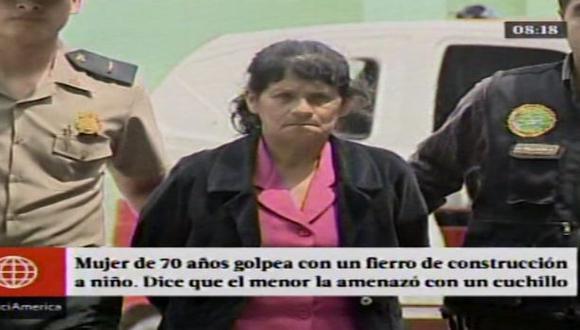 Detienen a anciana por golpear con un fierro a niño de 6 años