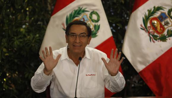 Presidente Martín Vizcarra saludó resolución del JNE que precisa que actuales congresistas no podrán postular a la reelección en elecciones de abril del 2021 (Foto: Presidencia de la República)