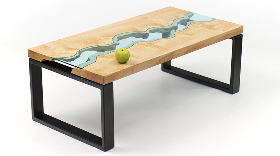 Incorpora el paisaje natural con estas mesas inspiradas en ríos - 1