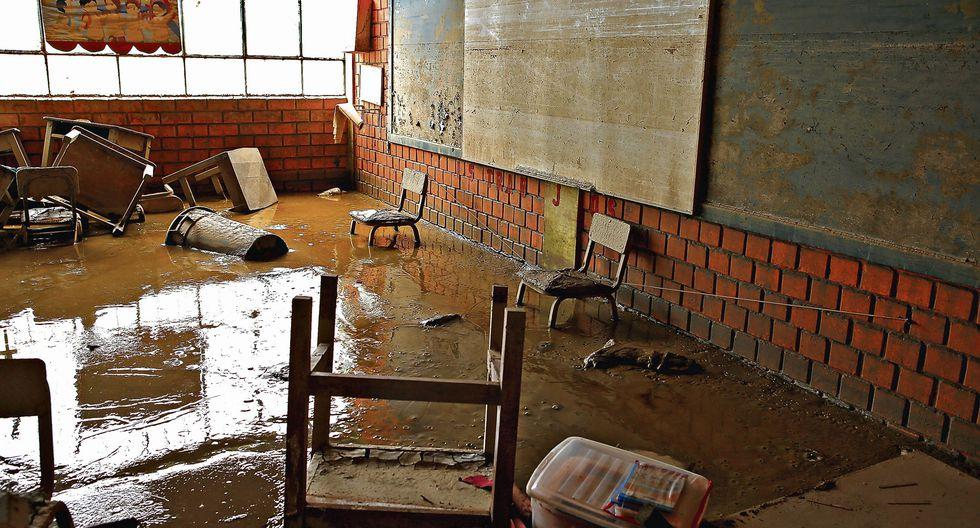 El Ministerio de Educación ha contabilizado en todo el país 1.464 instituciones educativas con daños leves producto de las lluvias. Los colegios de Piura han sido los más afectados por El Niño costero. (Foto: Archivo El Comercio)