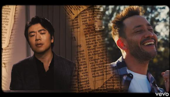 """Luciano Pereyra se une al pianista Lang Lang para la nueva versión de su canción """"Me enamoré de ti"""". (Foto: Captura de video)"""
