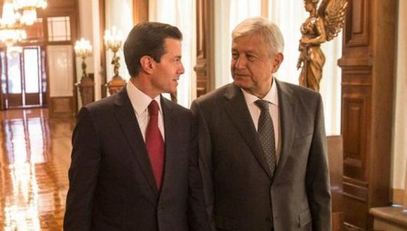 Enrique Peña Nieto y Andrés Manuel López Obrador en su primera reunión tras las elecciones. AMLO dijo que habrá una transición pacífica y ordenada. Foto: Presidencia de México