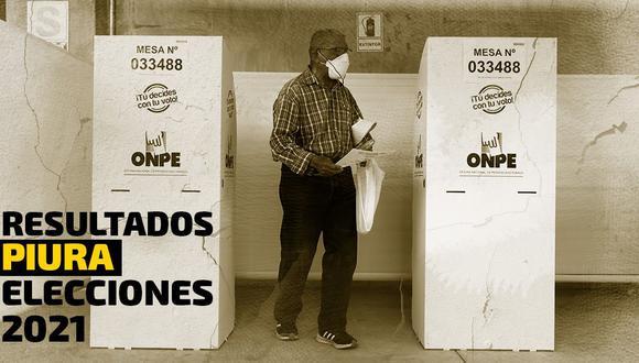 Conoce los resultados oficiales de las Elecciones 2021 en la región Piura, según el conteo de la ONPE | Foto: Diseño El Comercio