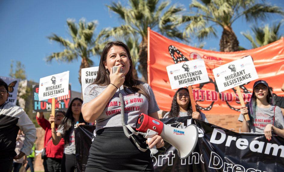 """El Senado de Estados Unidos debate una legislación que permita proteger a unos 800.000 """"dreamers"""" de la deportación. (Foto: Reuters/Monica Almeida)"""