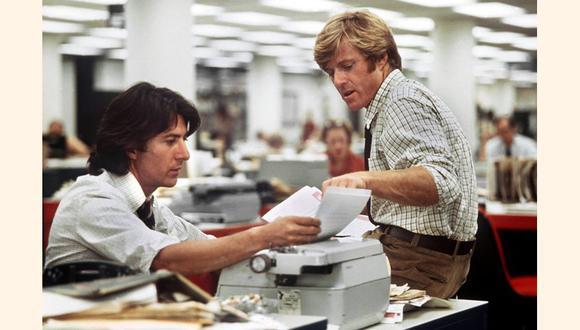 Todos los hombres del presidente (1976). El caso Watergate y la trama de corrupción del Partido Republicano que llevó a la dimisión del presidente Nixon, desvelada por los periodistas Bob Woodward y Carl Bernstein del Washington Post.