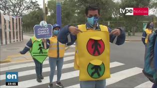 Municipalidad de Lima realizó campaña de concientización vial al estilo de 'El juego del calamar'