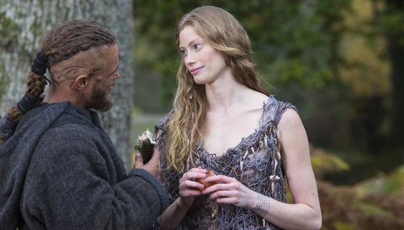 """En """"Vikings"""", Aslaug fue la segunda esposa de Ragnar (Foto: Netflix)"""