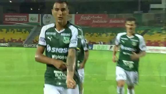 Deportivo Cali ganó 1-0 a Bucaramanga con agónico gol de Christian Rivera por la Liga Águila. (Foto: Captura de pantalla)
