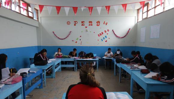 Palomino comentó que 5.000 colegios privados tuvieron que cerrar por problemas económicos en el 2020. (Foto: Anthony Niño de Guzmán)