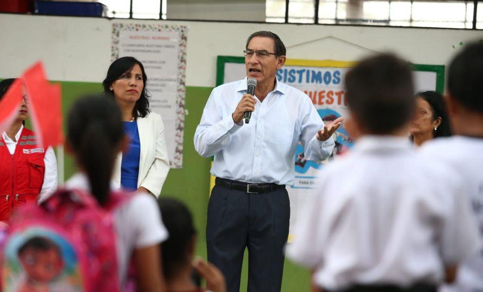El presidente Martín Vizcarra destacó la estrategia que tiene el Ministerio Público para enfrentar el caso Odebrecht. (Foto: Alessandro Currarino / GEC / Video: Canal N)