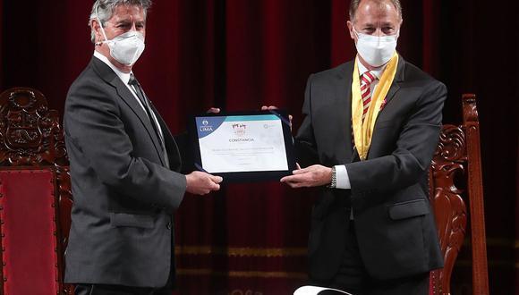 Francisco Sagasti y Jorge Muñoz encabezaron la ceremonia por los 200 años de la firma de la independencia. (Foto: Andina)